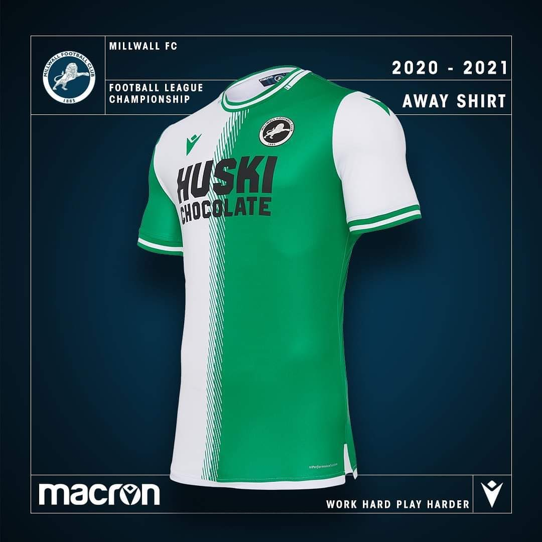 Camisas do Millwall 2020-2021 Macron