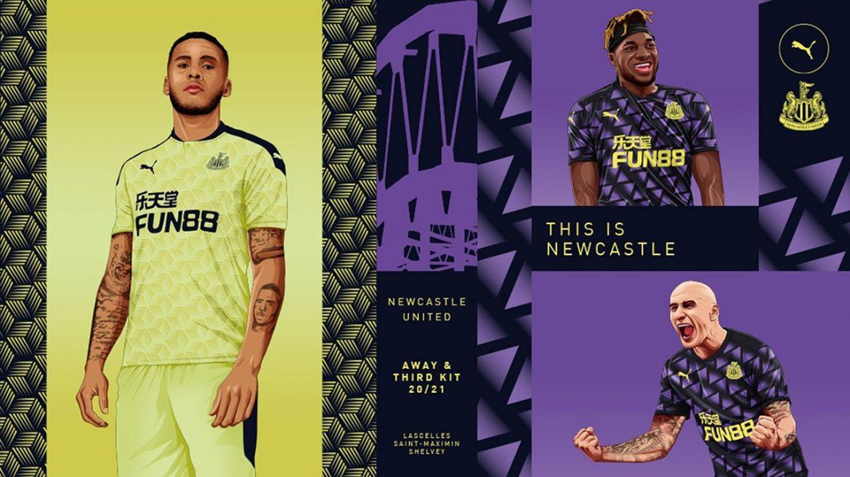 Camisas do Newcastle 2020-2021 PUMA a