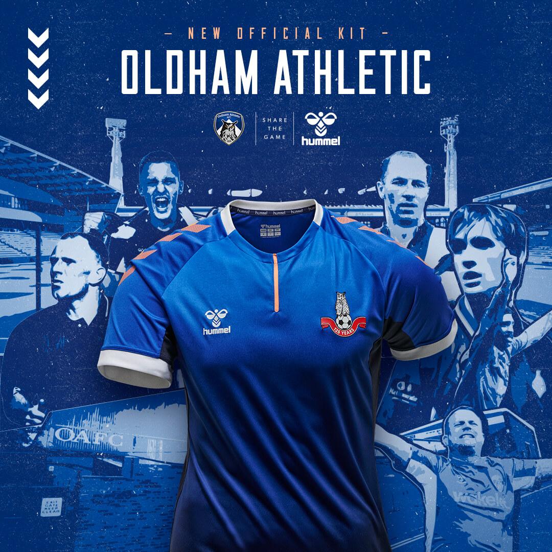 Camisas do Oldham Athletic 2020-2021 Hummel