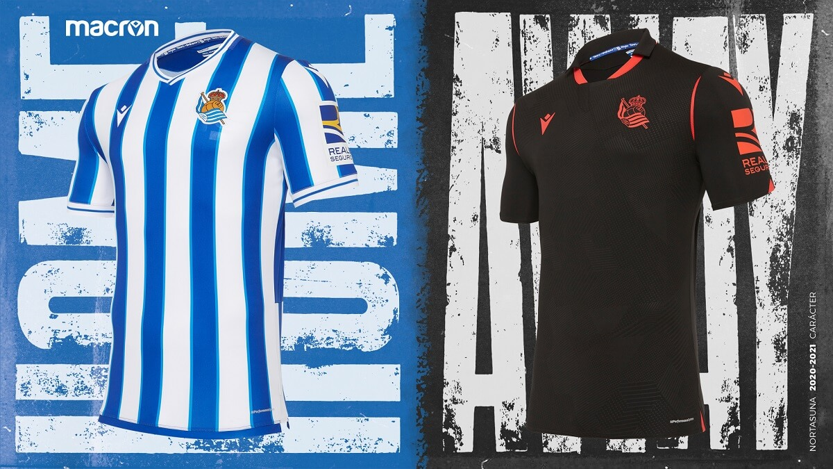 Camisas do Real Sociedad 2020-2021 Macron