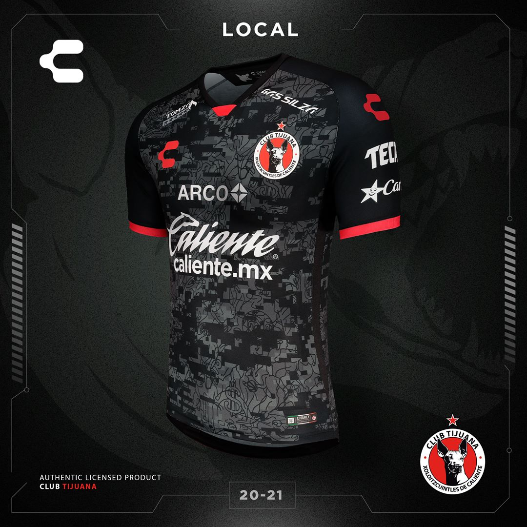 Camisas do Xolos de Tijuana 2020-2021 Charly