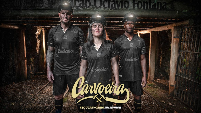 Carvoeira Terceira camisa do Criciúma EC 2020-2021 Garra91 kit