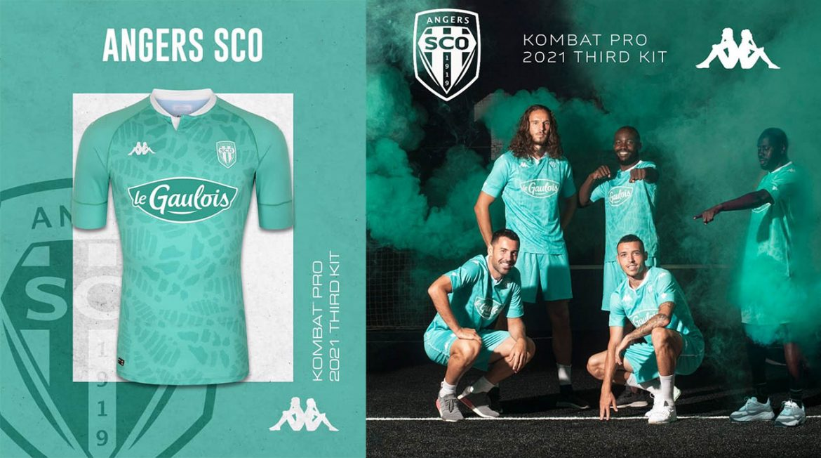 Terceira camisa do Angers SCO 2020-2021 Kappa a