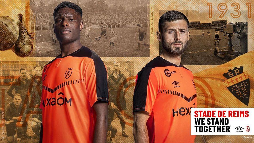 Terceira camisa do Stade Reims 2020-2021 Umbro a