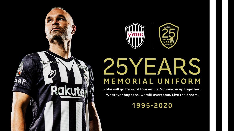 Camisa dos 25 anos do Vissel Kobe 2020-2021 Asics