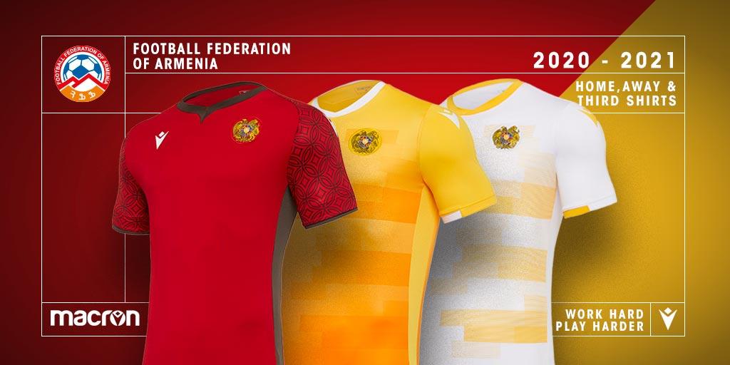 Camisas da Armênia 2020-2021 Macron
