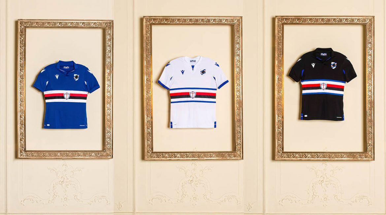 Camisas da Sampdoria 2020-2021 Macron a