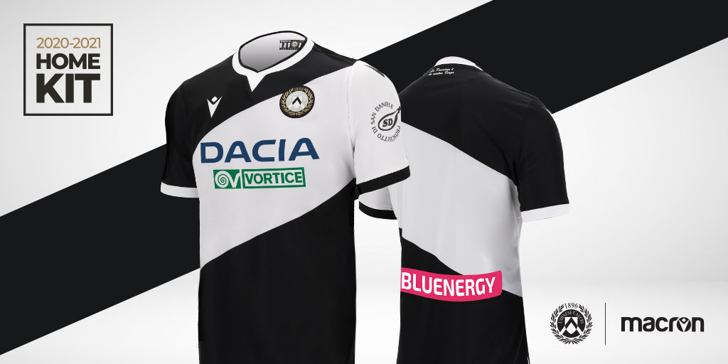 Camisas da Udinese 2020-2021 Macron Titular a
