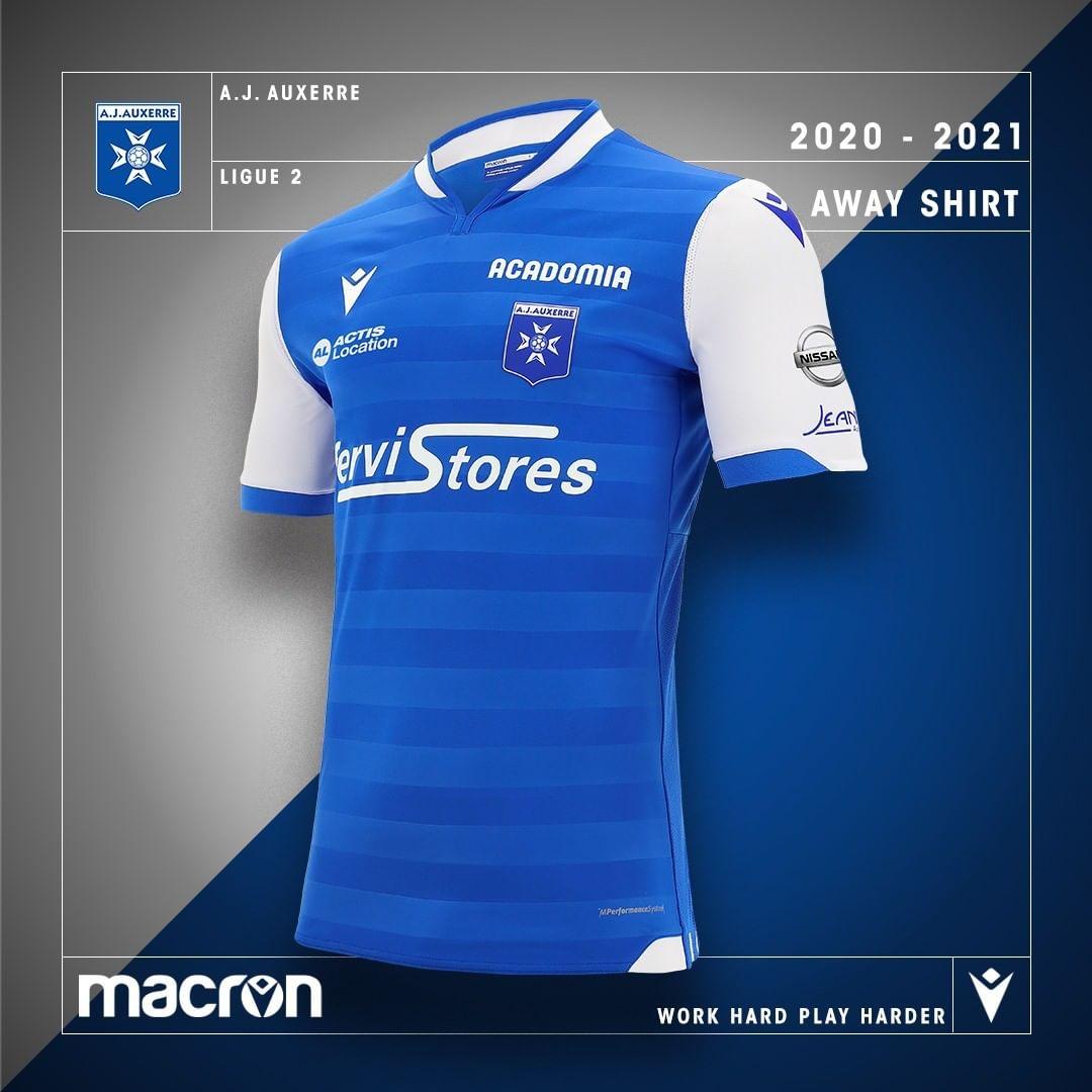 Camisas do AJ Auxerre 2020-2021 Macron