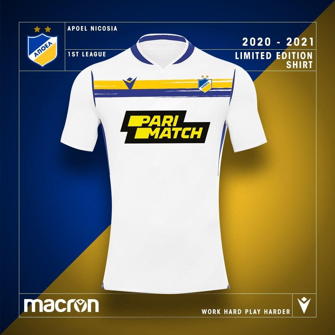 Camisas do APOEL FC 2020-2021 Macron