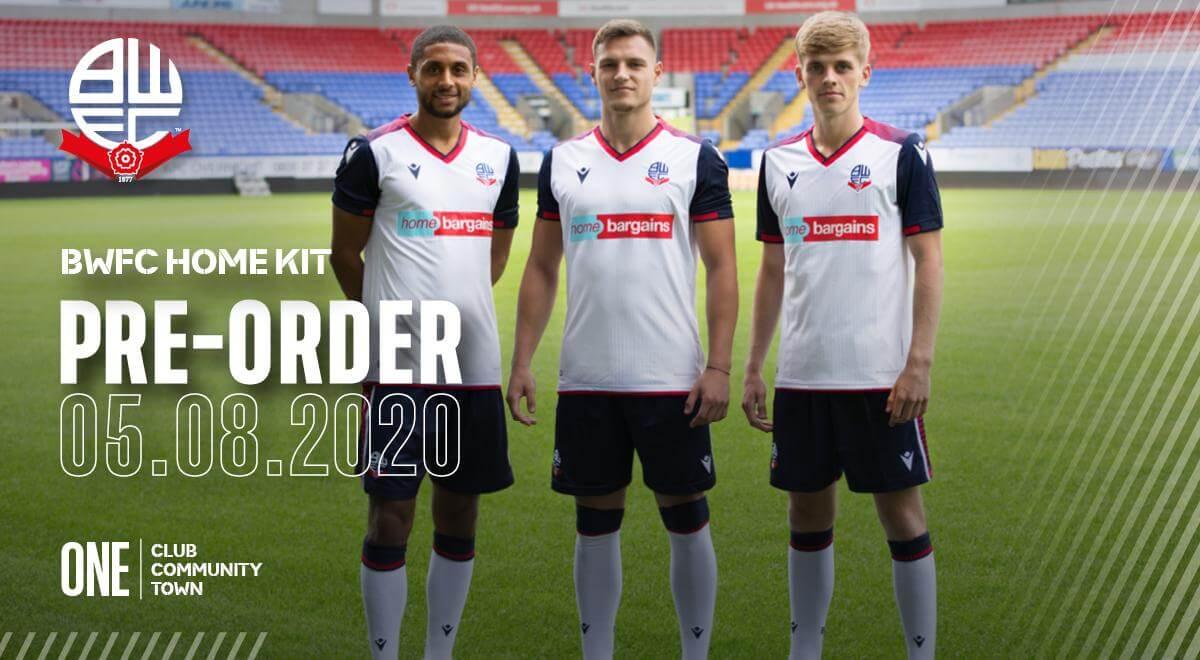 Camisas do Bolton Wanderers 2020-2021 Macron