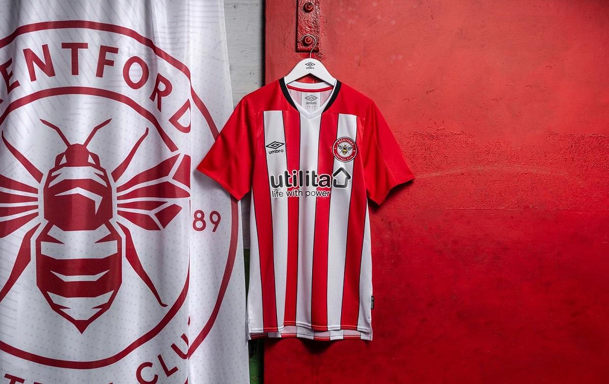 Camisas do Brentford 2020-2021 Umbro