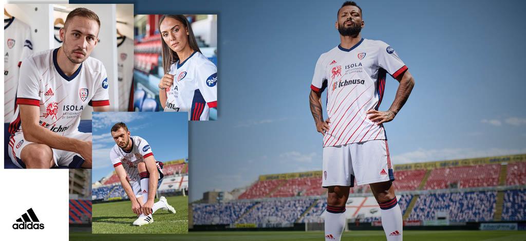 Camisas do Cagliari Calcio 2020-2021 Adidas Reserva
