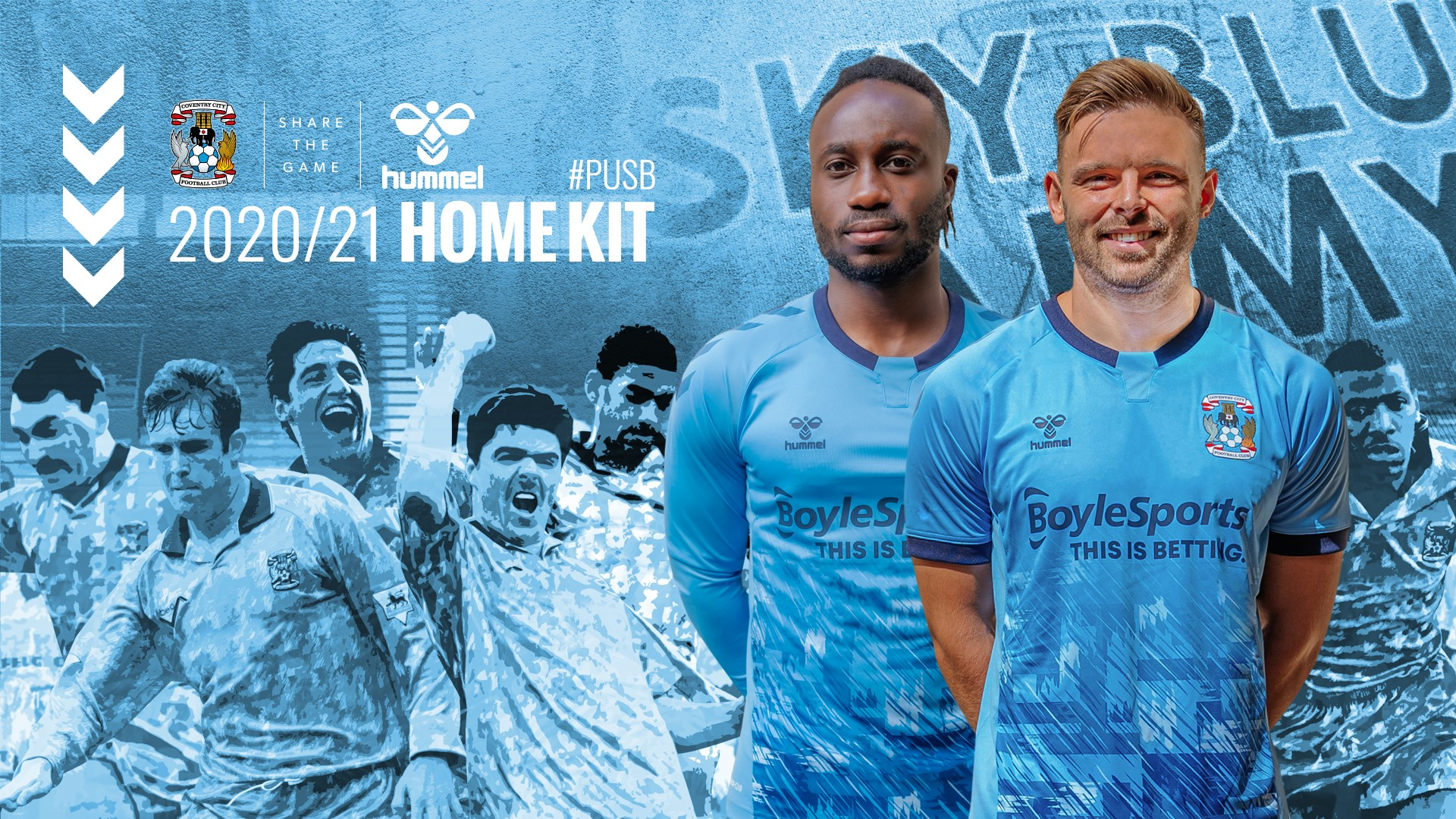 Camisas do Coventry City 2020-2021 Hummel