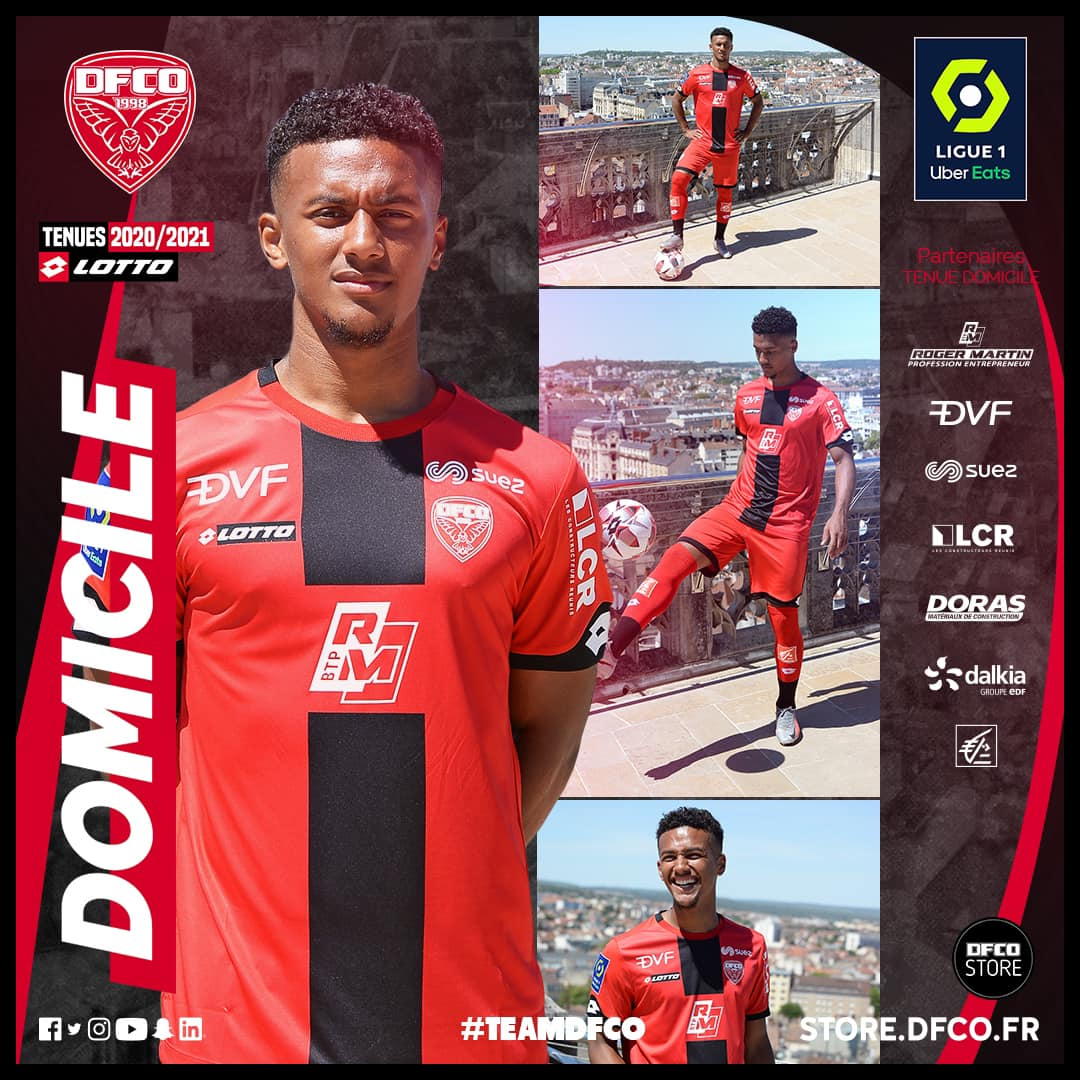 Camisas do Dijon FCO 2020-2021 Lotto