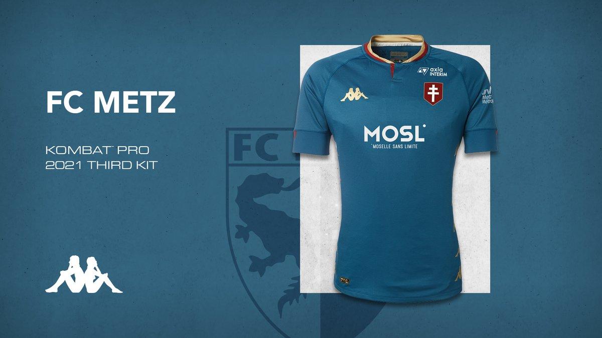 Camisas do FC Metz 2020-2021 Kappa