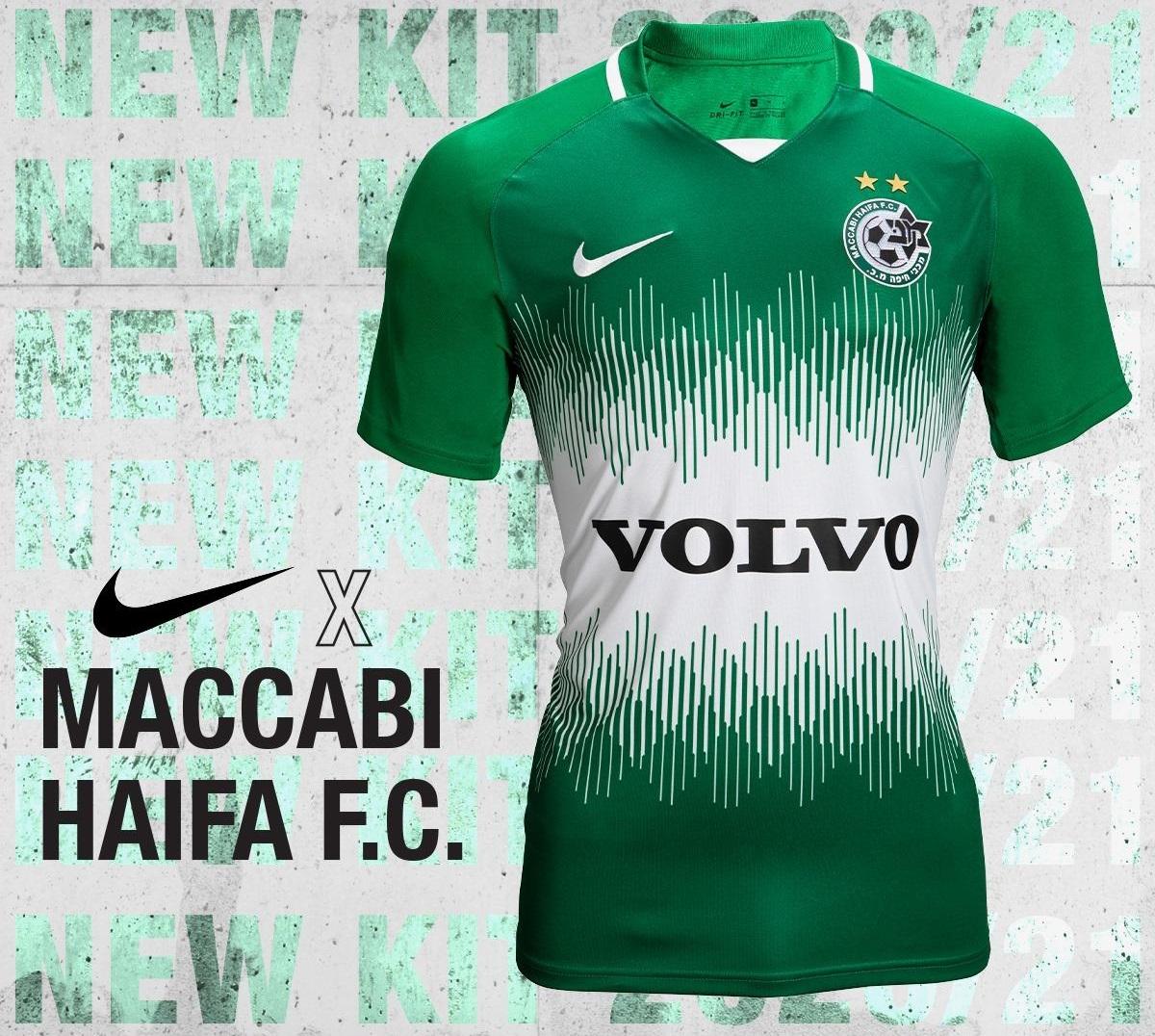 Camisas do Maccabi Haifa 2020-2021 Nike