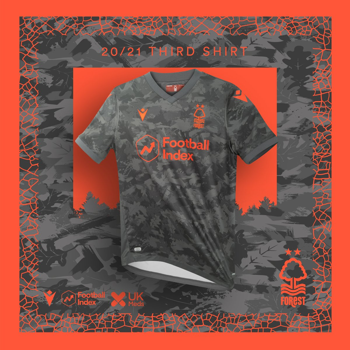 Camisas do Nottingham Forest 2020-2021 Macron