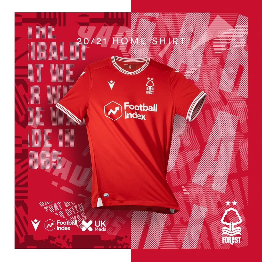 Camisas do Nottingham Forest 2020-2021 Macron a