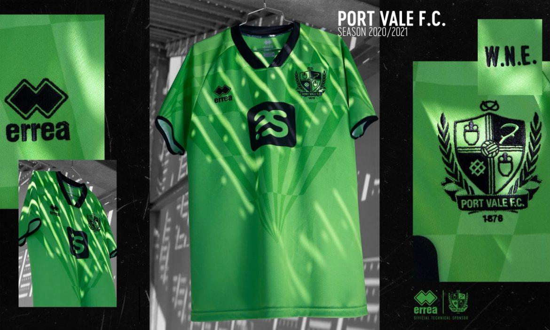 Camisas do Port Vale 2020-2021 Erreà