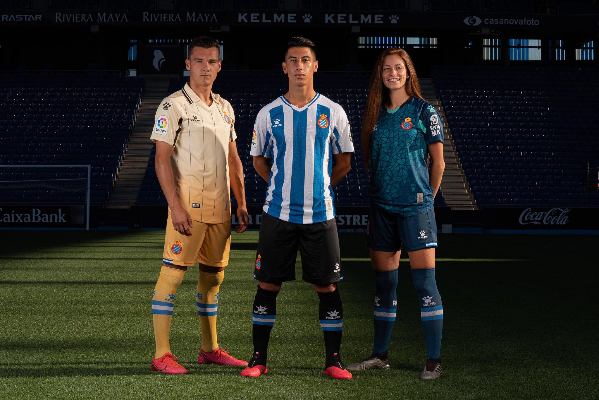 Camisas do RCD Espanyol 2020-2021 Kelme kits