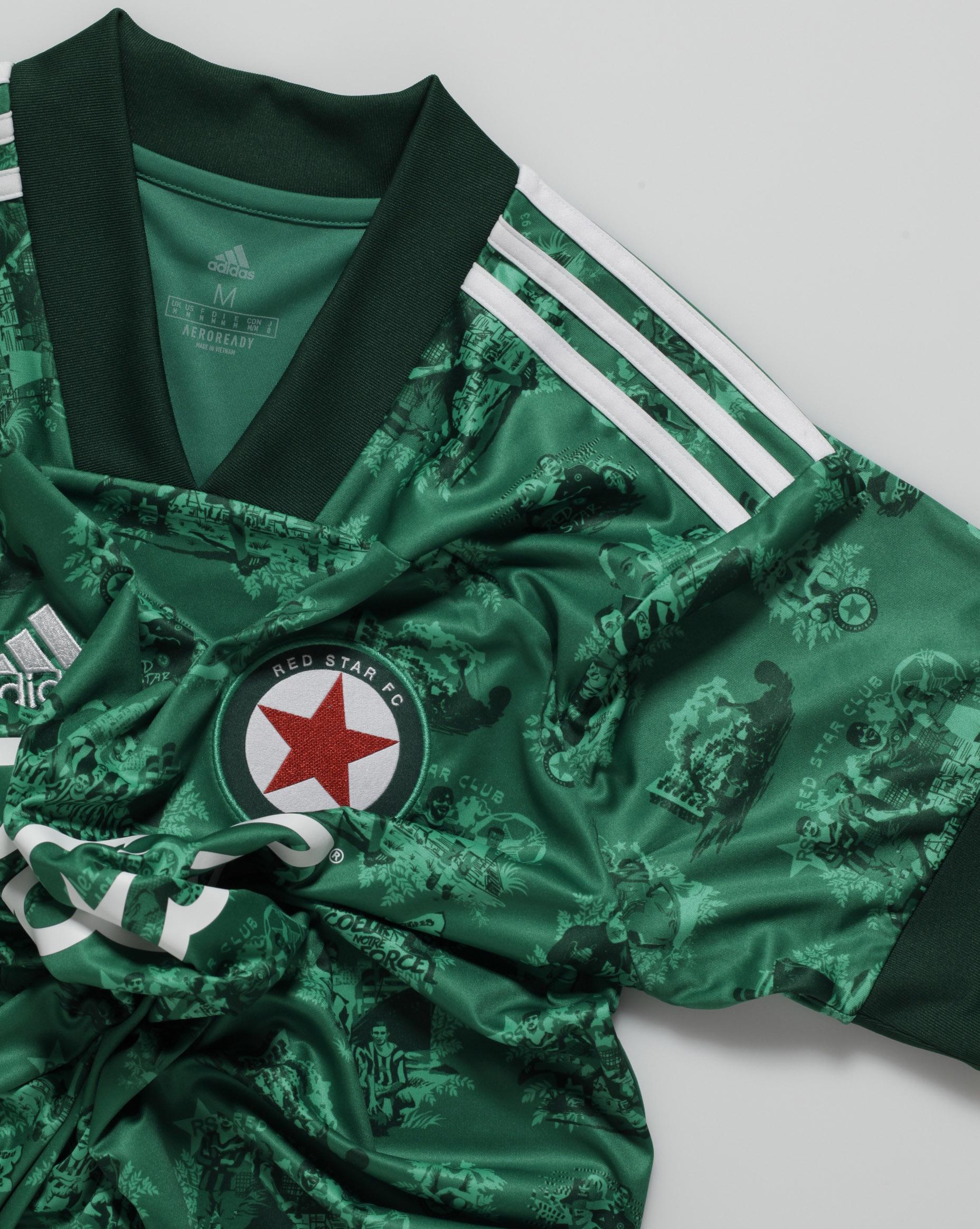 Camisas do Red Star FC 2020-2021 Adidas Titular