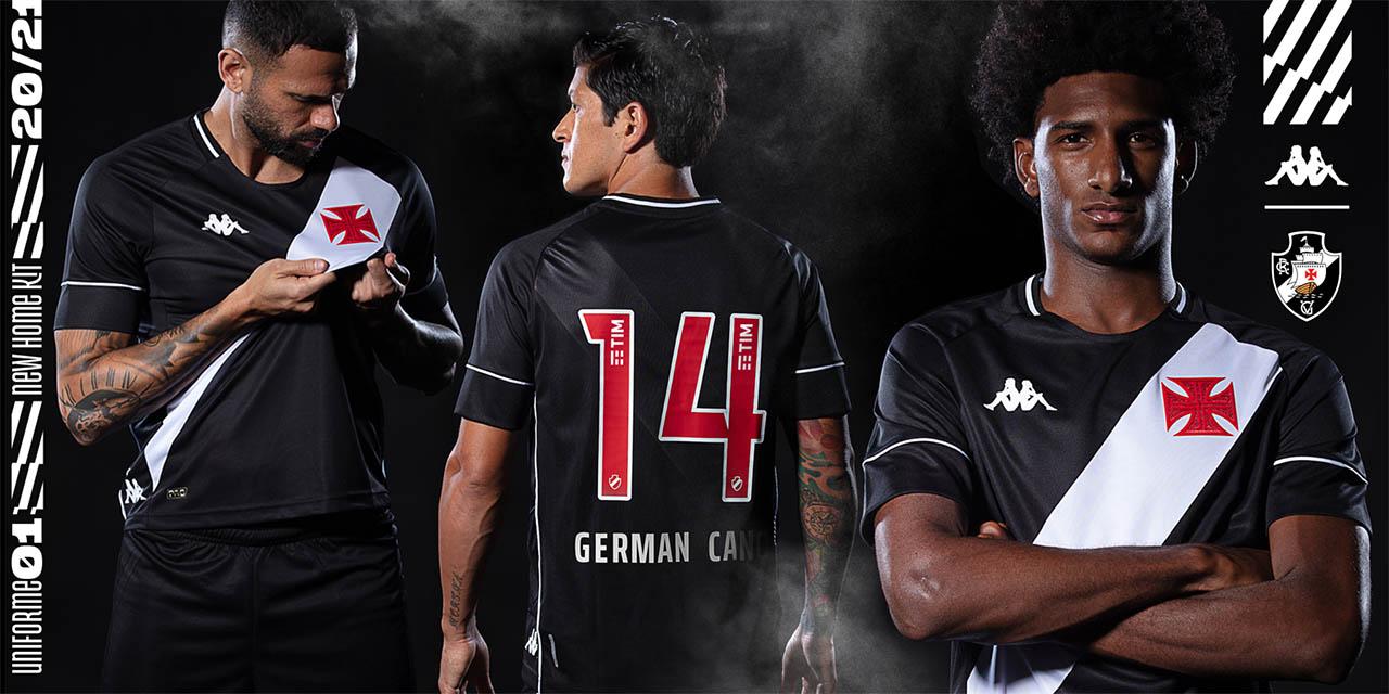 Camisas do Vasco da Gama 2020-2021 Kappa Titular Preta