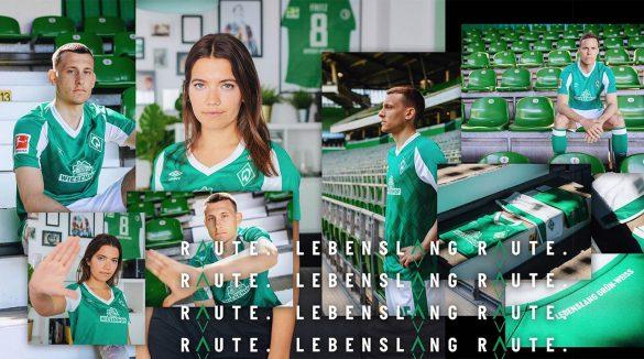 Camisas do Werder Bremen 2020-2021 Umbro Titular a
