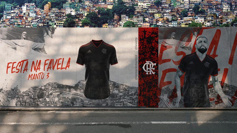 Festa na favela Terceira camisa do Flamengo 2020-2021 Adidas