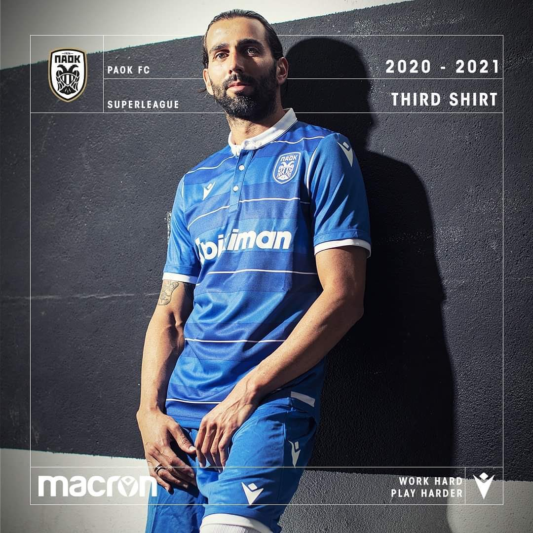 Quarta camisa do PAOK 2020-2021 Macron