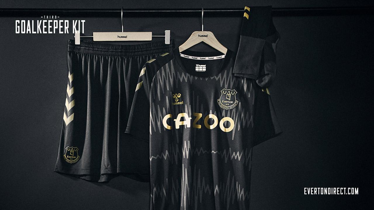 Terceira camisa do Everton 2020-2021 Hummel Goleiro