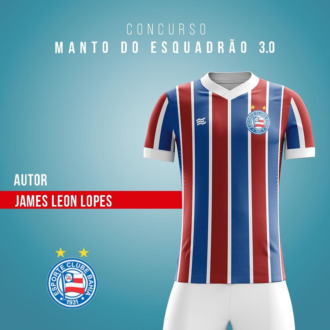 Manto do Esquadrão 3.0: EC Bahia revela finalistas de camisas para 2021 03-james