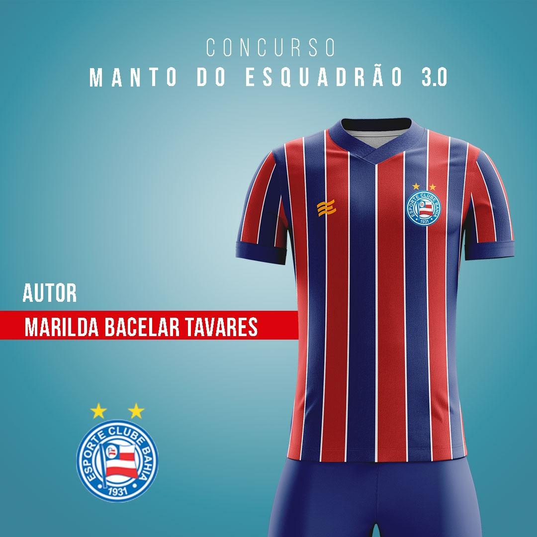 Manto do Esquadrão 3.0: EC Bahia revela finalistas de camisas para 2021 04-marilda