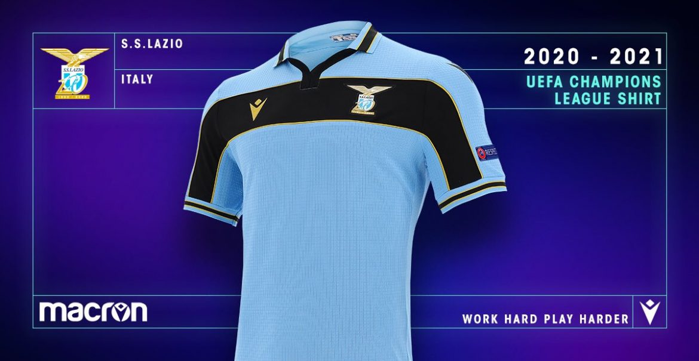 Camisa da Champions League da Lazio 2020-2021 Macron a