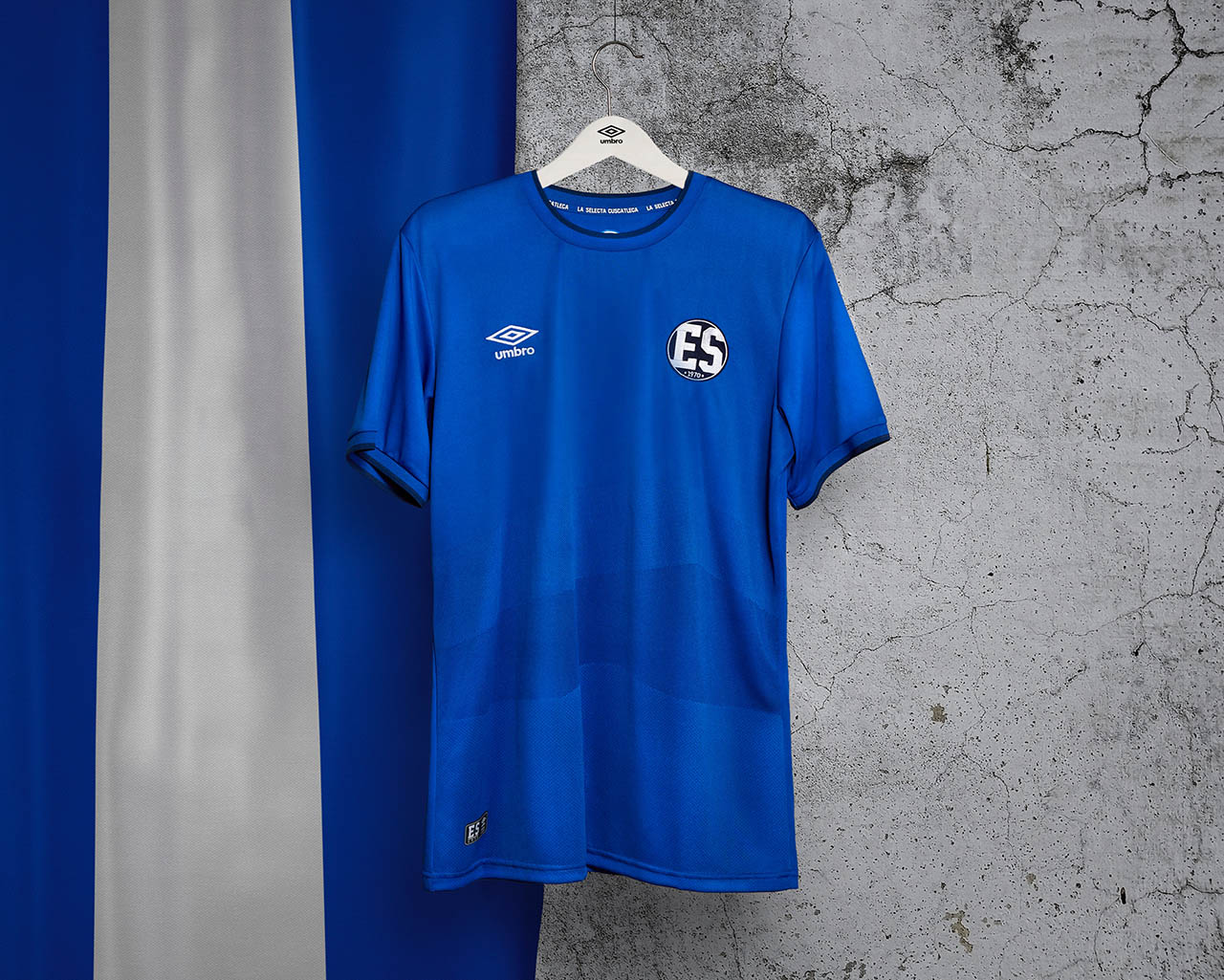 Camisa retrô de El Salvador Copa do Mundo 1970 Umbro