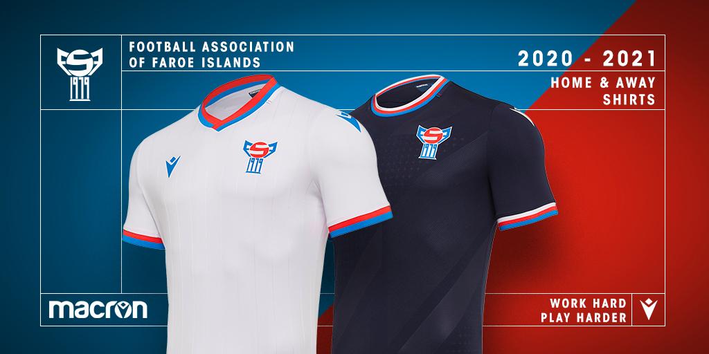 Camisas da Ilhas Faroé 2020-2021 Macron a
