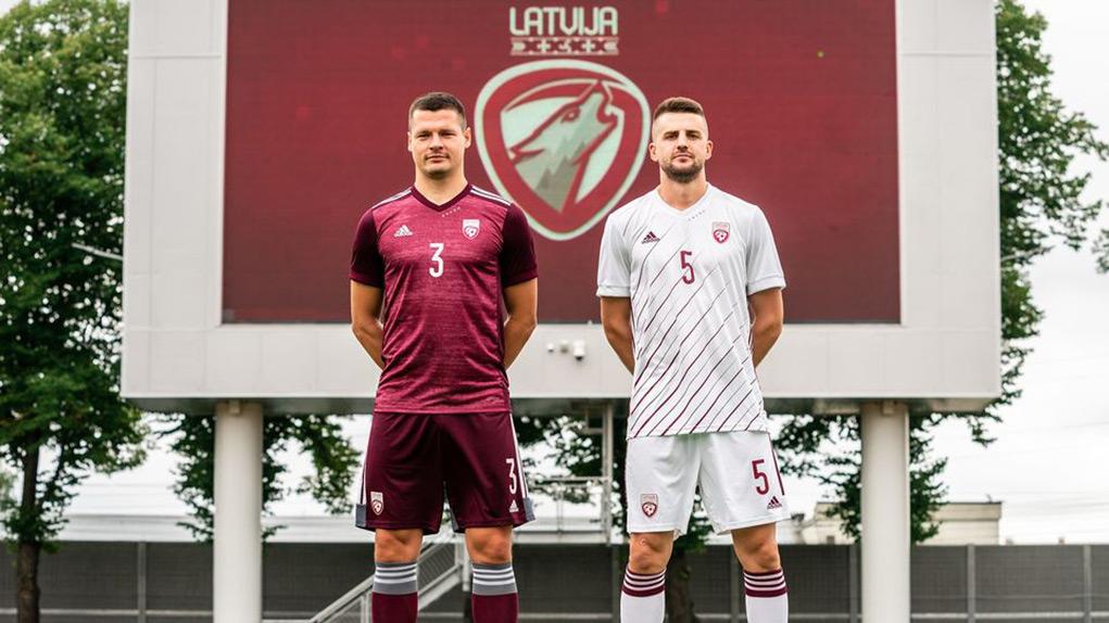 Camisas da Letônia 2020-2021 Adidas