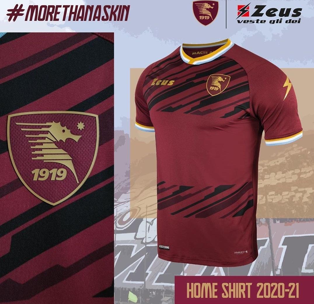 Camisas da US Salernitana 2020-2021 Zeus