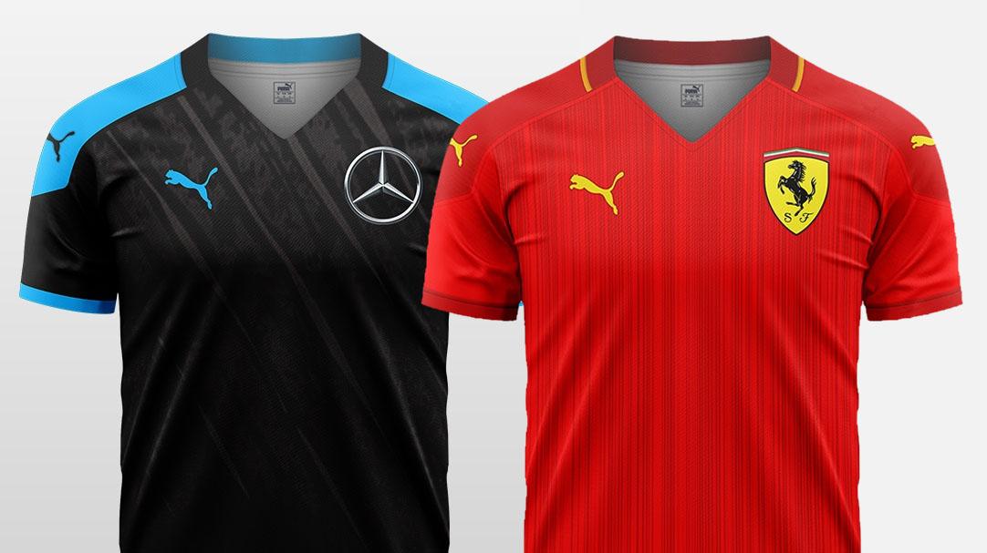 Camisas de futebol F1 2020 x PUMA Douglas Ramos