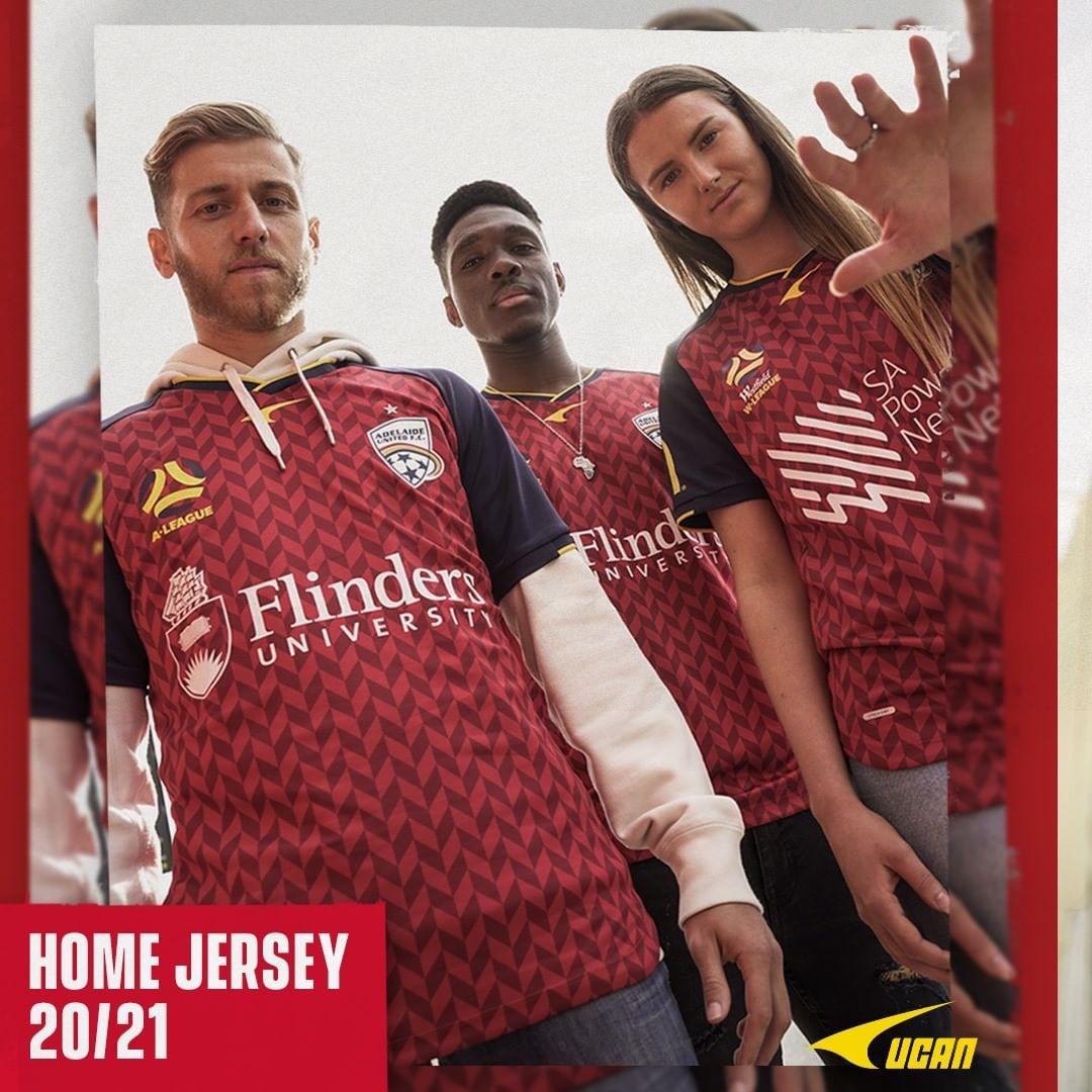 Camisas do Adelaide United 2020-2021 UCAN