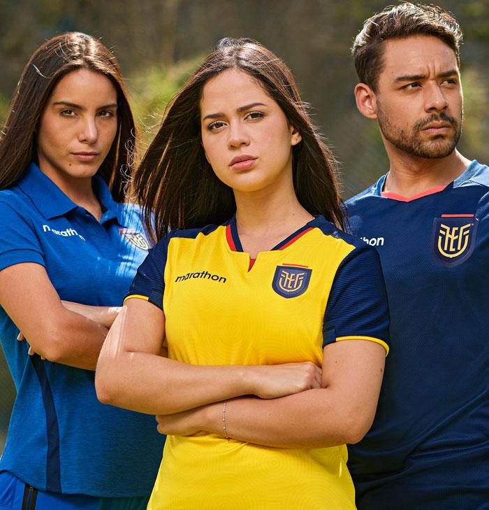 Camisas do Equador 2020-2021 Marathon Titular