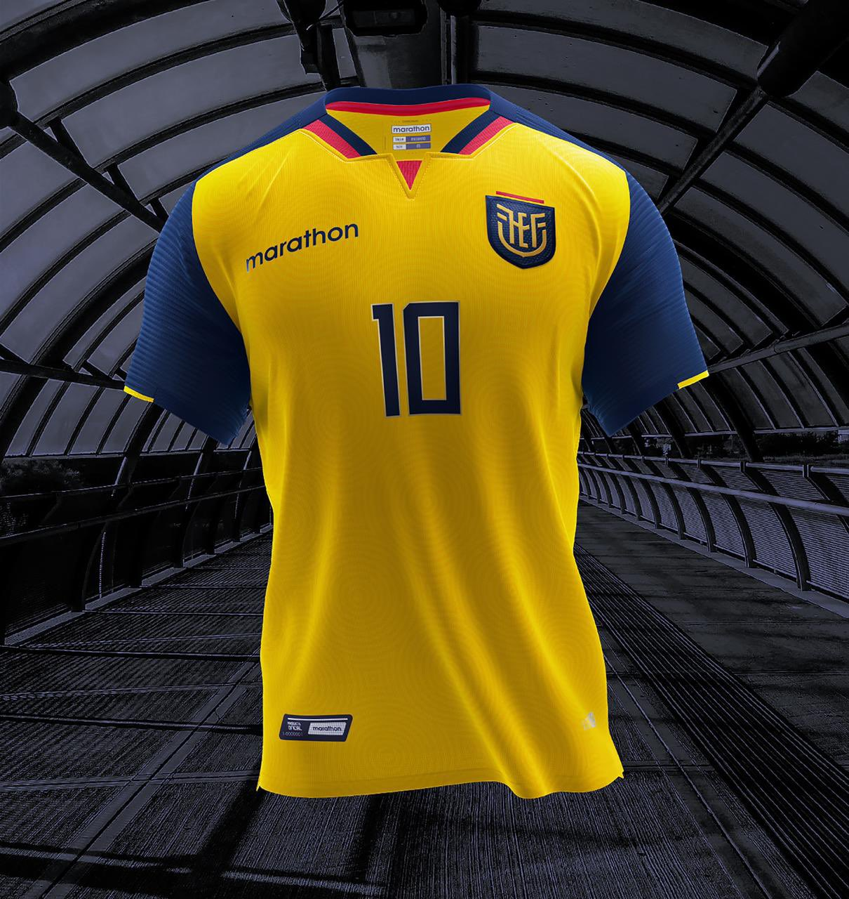 Camisas do Equador 2020-2021 Marathon Titular
