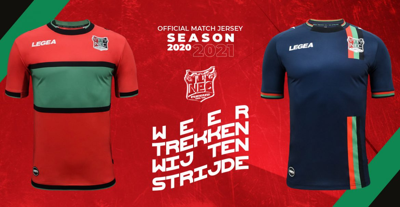 Camisas do NEC Nijmegen 2020-2021 Legea