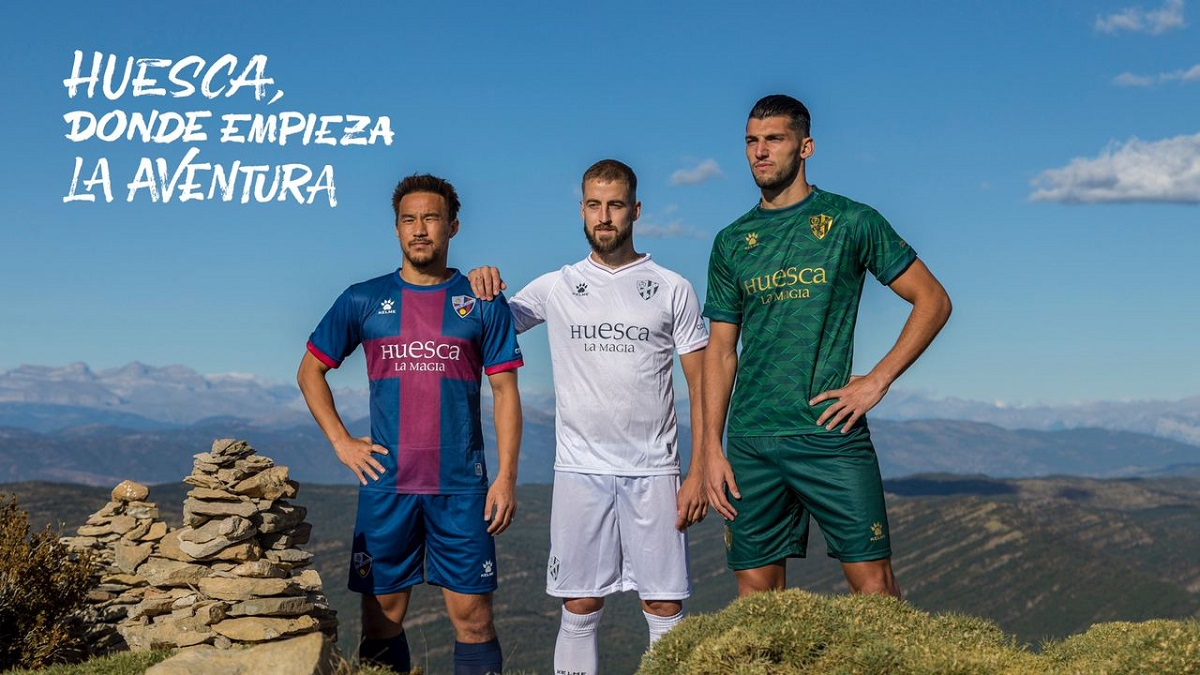 Camisas do SD Huesca 2020-2021 Kelme