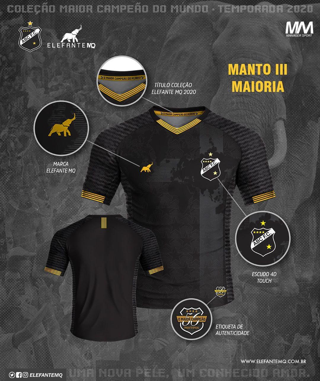 Maioria Terceira camisa do ABC FC 2020-2021 ElefanteMQ