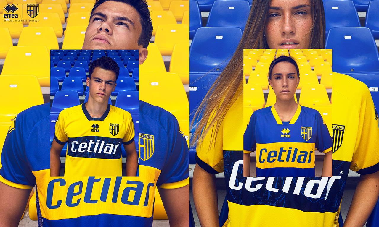 Gêmeas: Camisas reservas do Parma Calcio 2020-2021 Erreà