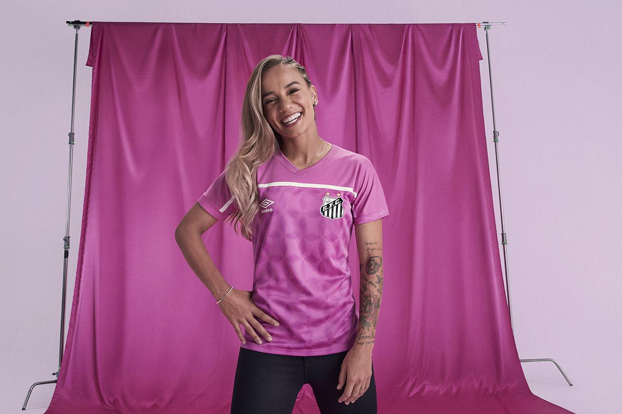 Camisa Umbro FEMAMA Outubro Rosa Santos