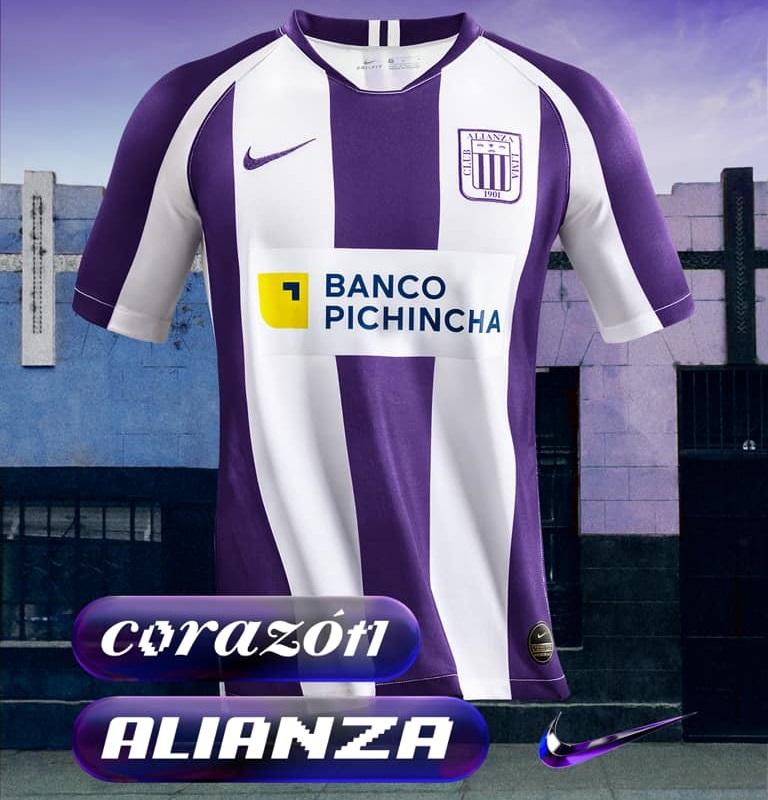 Señor de Los Milagros Camisa roxa do Alianza Lima 2020 Nike