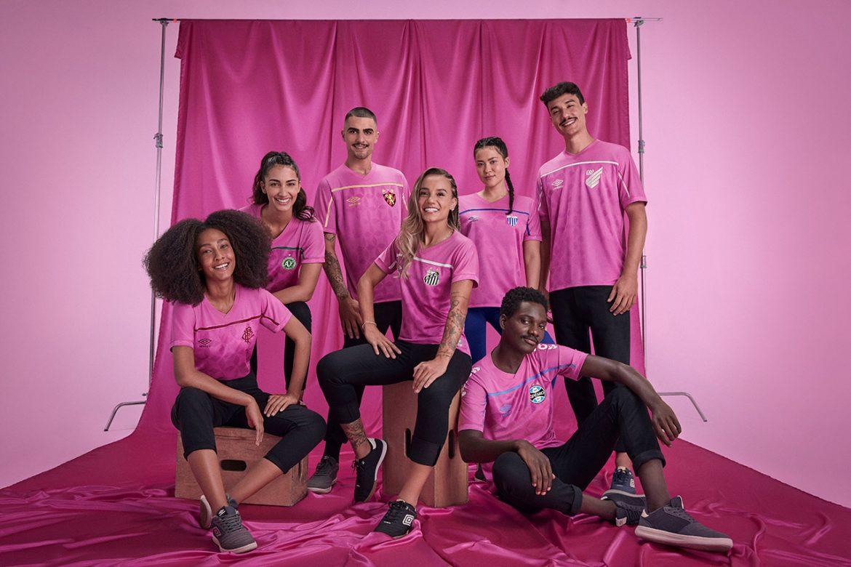 Umbro e seus sete clubes vestem a camisa da FEMAMA no Outubro Rosa