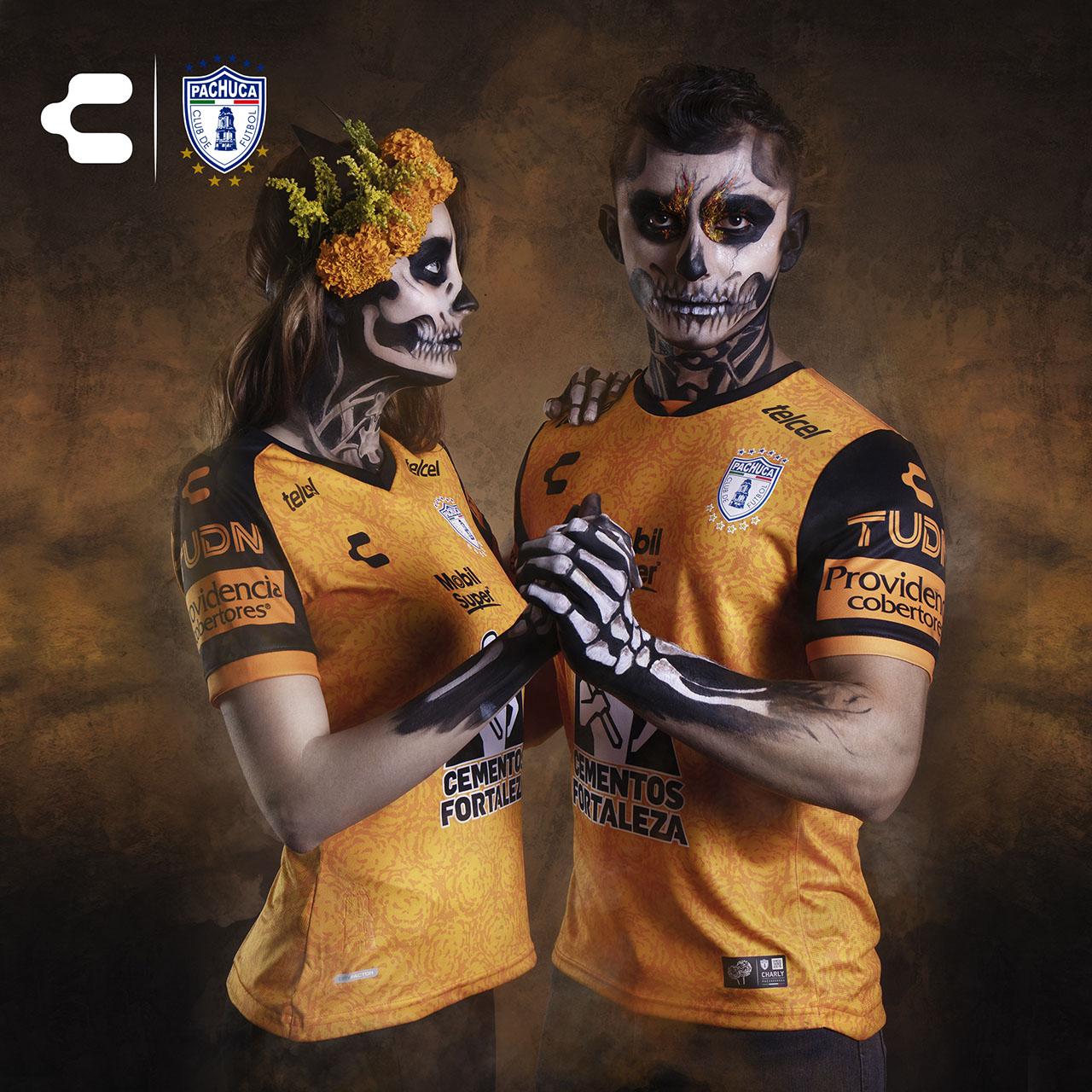 Camisa Dia de Los Muertos do Pachuca 2020 Charly